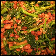 #rapini and Romano #beans #Homemade #CucinaDelloZio -