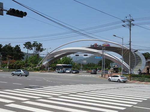 釜山慶南競馬場の入口