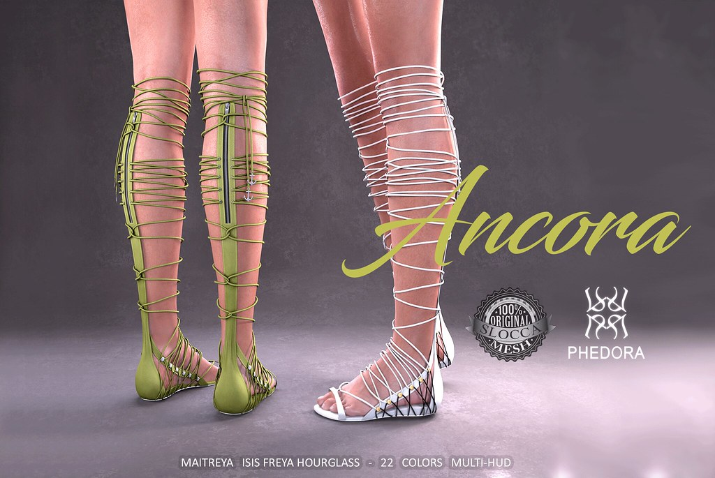 Phedora for Uber- Ancora Sandals! ♥ - SecondLifeHub.com