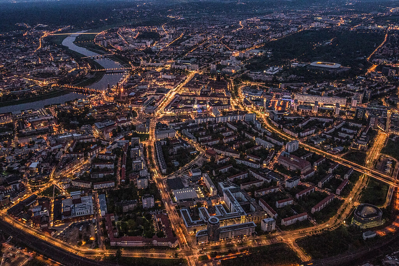 Sparkling lights of Dresden