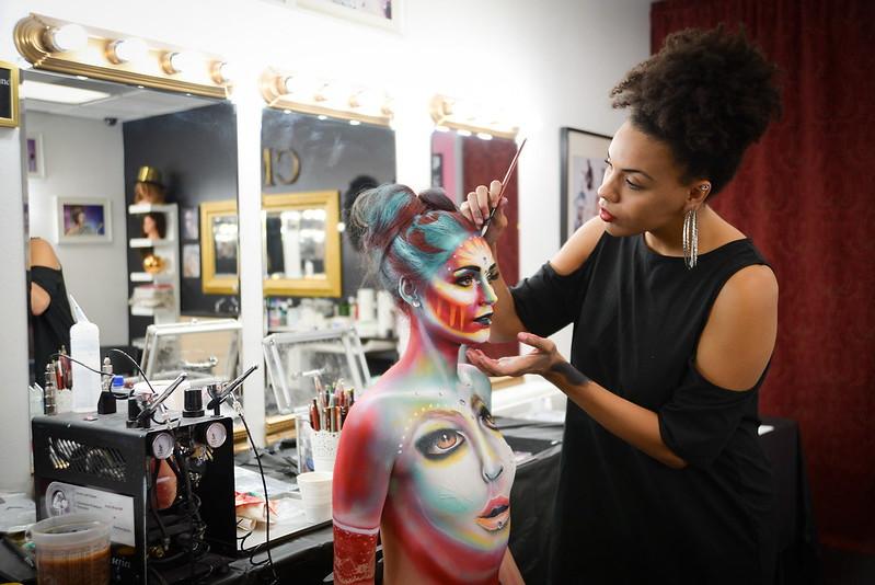Teaching at CMC Makeup School