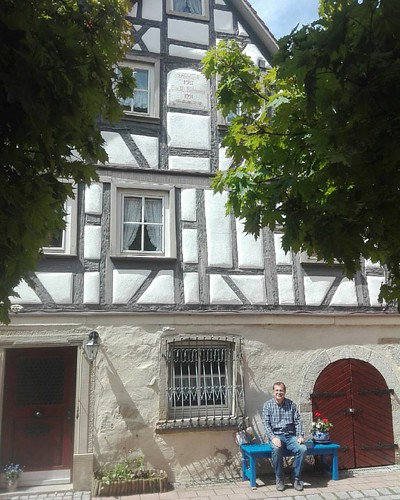 Strolling through the old city of Kirchberg, Germany...stopped by 300  hundreds of old building with it's architecture...imagine the history and living moments...building is still standing with it's beauty and architectural point of view... #adnanmordeniz