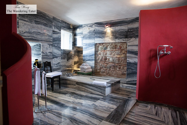 Spacious marble bathroom at Padre Himalaya Suite