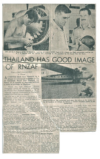 1964 RNZAF Bristol Freighter NZ5912 - Straits Times