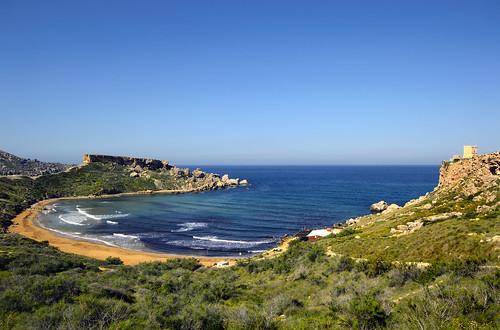 ghajntuffieha bay malta landscape mediterranean sea