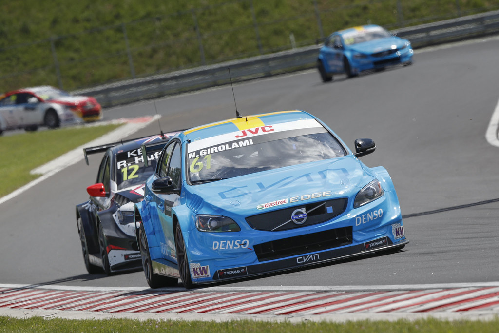 61 GIROLAMI Nestor (arg), Volvo S60 Polestar team Polestar Cyan Racing, action   during the 2017 FIA WTCC World Touring Car Race of Hungary at hungaroring, Budapest from may 12 to 14 - Photo Frederic Le Floc'h / DPPI