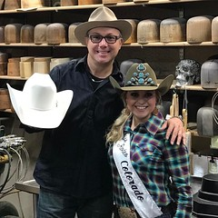 @missrodeocolorado stopped in for more #HATisfaction™ #MyCustomersRock #KingOfQueens