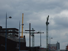 2nd crane going up at Exchange Square - seen from Moor Street Queensway
