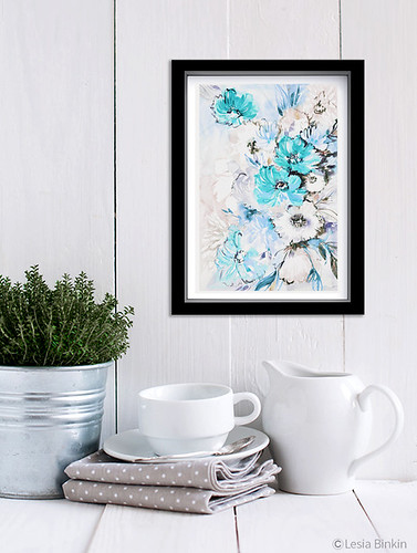 watercolor abstract painting 361c