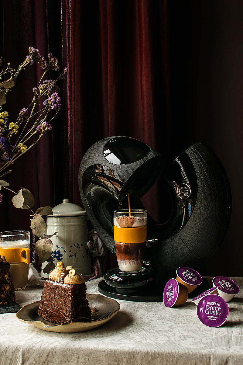 Dolce Vita, bizcocho de avellanas y café