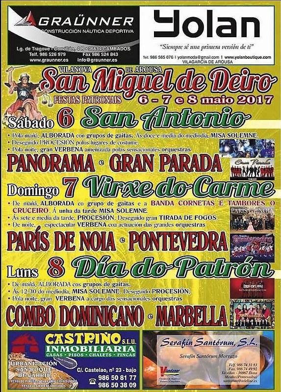 Vilanova de Arousa - Festas patronais de San Miguel de Deiro - cartel