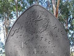 Sara Jacobs' Headstone, St Stephen's Church of England Cemetery, Willunga