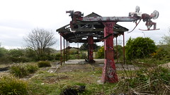 Remains of chairlift, North Bay Amusement Park, Scarborough