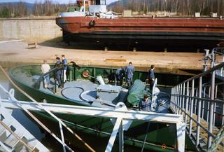 VL Valppaan kunnostusta Teijon telakalla 8.4.1991