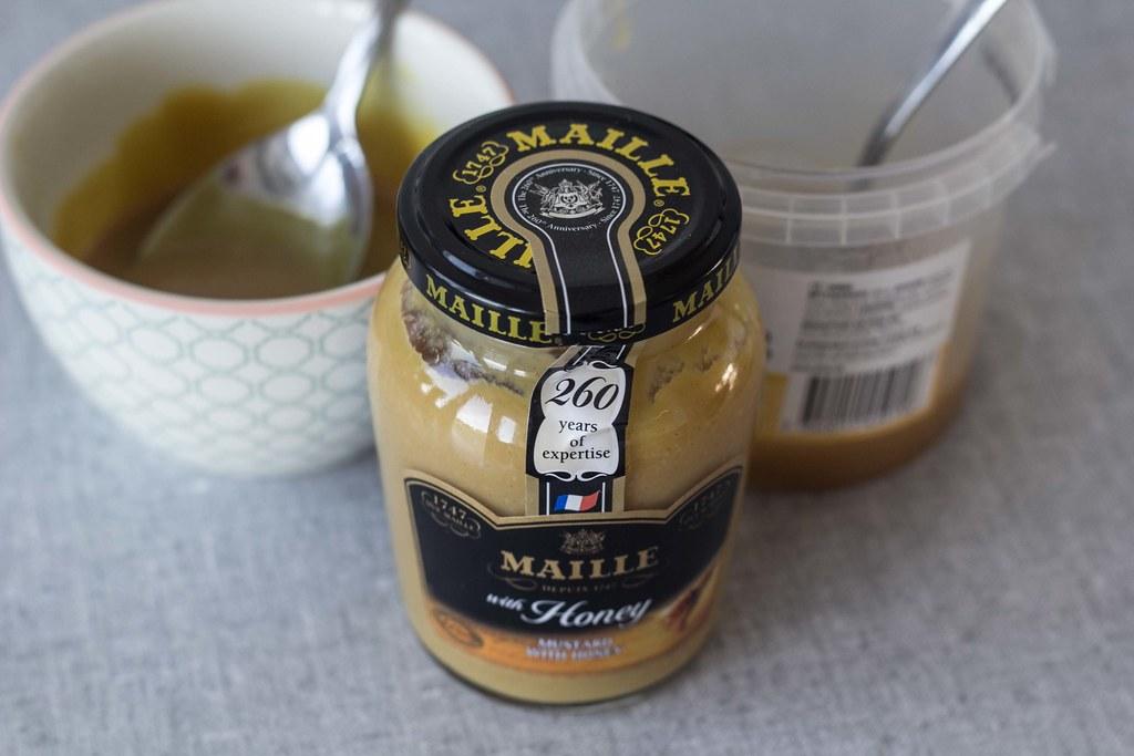 Svinemørbrad med sennep, honning og mandler (1)