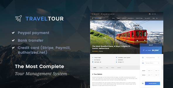 Travel Tour v1.1.1 - Travel & Tour Booking Management System WordPress Theme