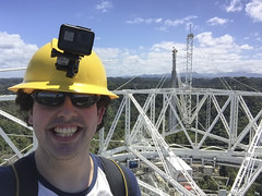 At the top of the structure
