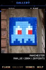MAN_10 , Invader, Flash Invaders, street art Manchester