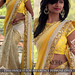 Yellow Cream Embrodired 60grmpadding Georgette Rassal Net Saree With Blouse Sarees on Shimply.com