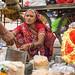 Vendor selling souvenir on street in Jaipur, India