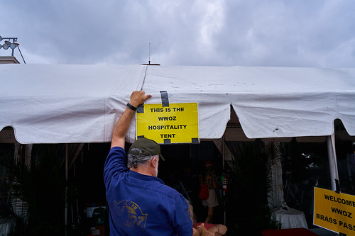 This is the WWOZ Hospitality Tent! Photo by Eli Mergel