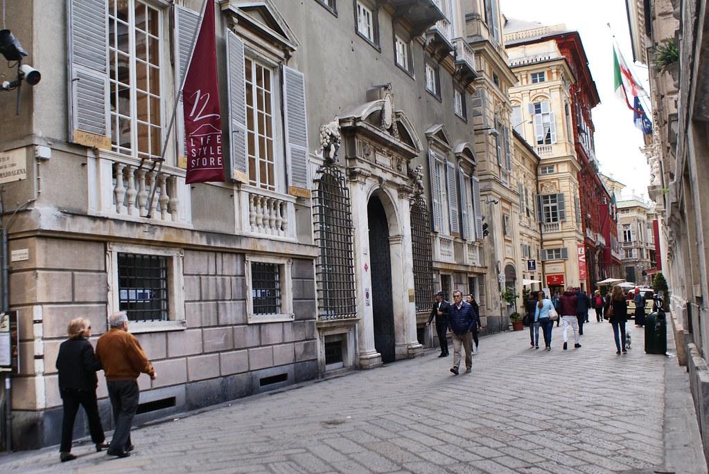 Via Garibaldi, la rue la plus prestigieuse de Gênes.