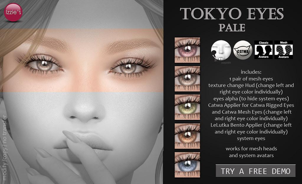 Tokyo Eyes (Pale) for FLF - SecondLifeHub.com