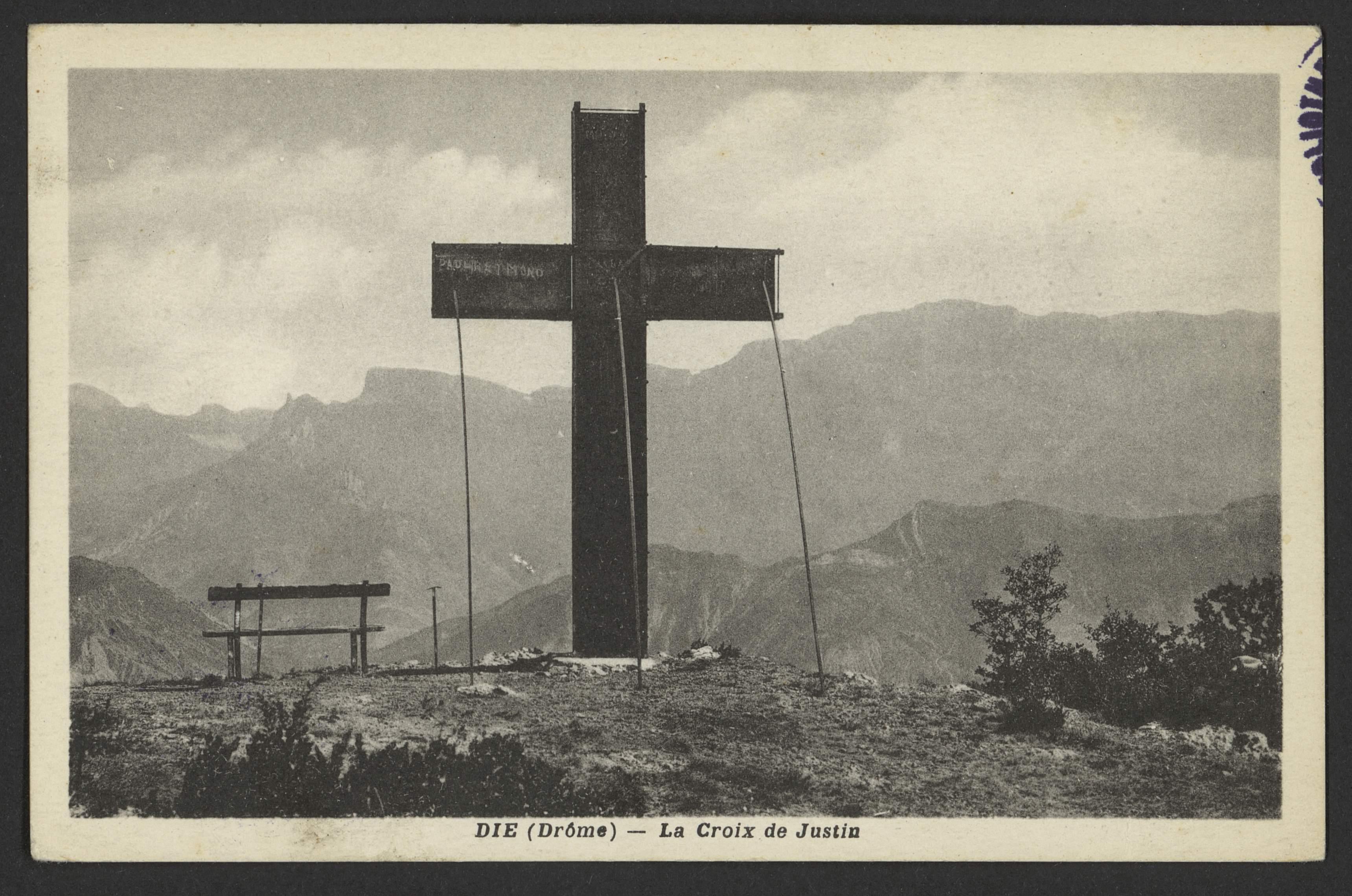 Die (Drôme) - La Croix de Justin