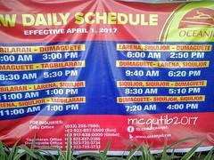 Cebu-Tagbilaran-Dumaguete-Siquijor v.v sailing schedule