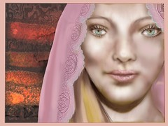 Girl with a pink Veil