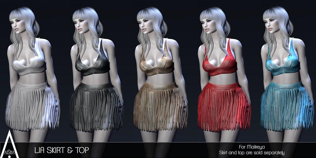 AiShA Lia Skirt & Top @ Whimsical - SecondLifeHub.com