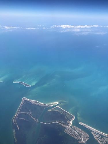 florida airplane coast windowseat