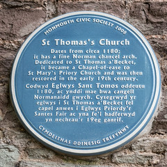 Photo of St Thomas's Church, Monmouth blue plaque