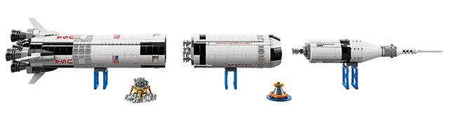 新增官圖、販售資訊,LEGO 21309 ideas系列【農神5號火箭】NASA Apollo Saturn V Rocket