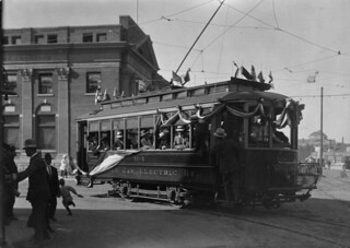 Moose Jaw Electric trolley car, Moose Jaw, Saskatchewan / Tramway de la compagnie Moose Jaw Electric, à Moose Jaw (Saskatchewan)