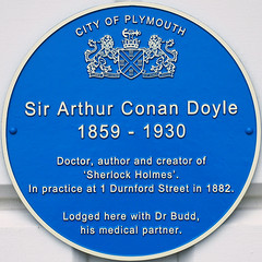 Photo of Arthur Conan Doyle and George Turnavine Budd blue plaque