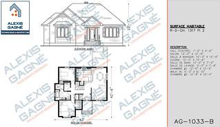 Plan de maison 1 étage - MM1e.14
