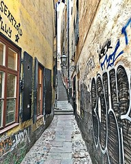 I ended up passing it a couple times while looking for it, but finally found the narrowest street in Stockholm.