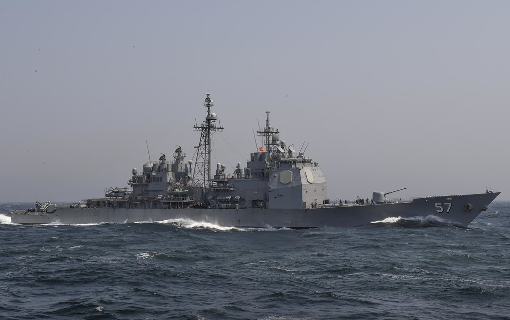 SANTA RITA, Guam - USS Lake Champlain (CG 57) arrived in Guam for a regularly scheduled port visit, Feb. 12.