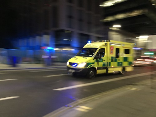 Mercedes Sprinter Ambulance of London Ambulance Service at Aldgate