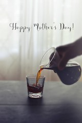r.e. ~ posted a photo:	Coffee at home! :two_hearts:Happy Mother's Day!