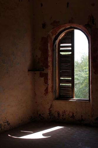 decay window shadows sunlight ruined château chateaudebaronroger richardtoll senegal africa westafrica colonial
