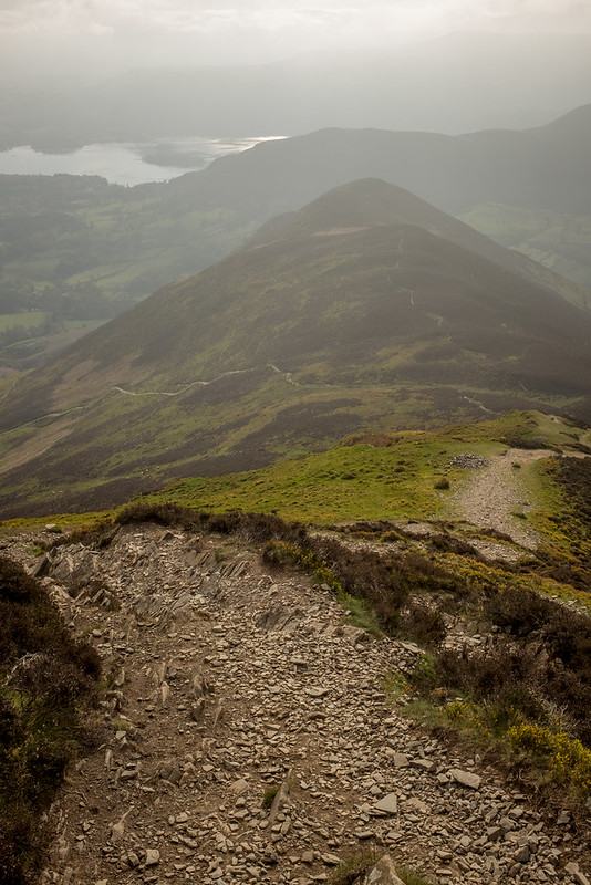 The distinctive summit of Causey Pike