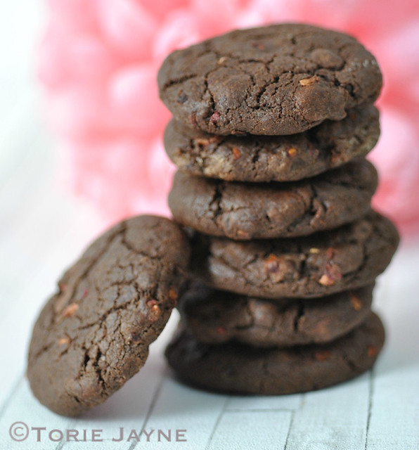 Gluten free raspberry & dark chocolate cookie recipe