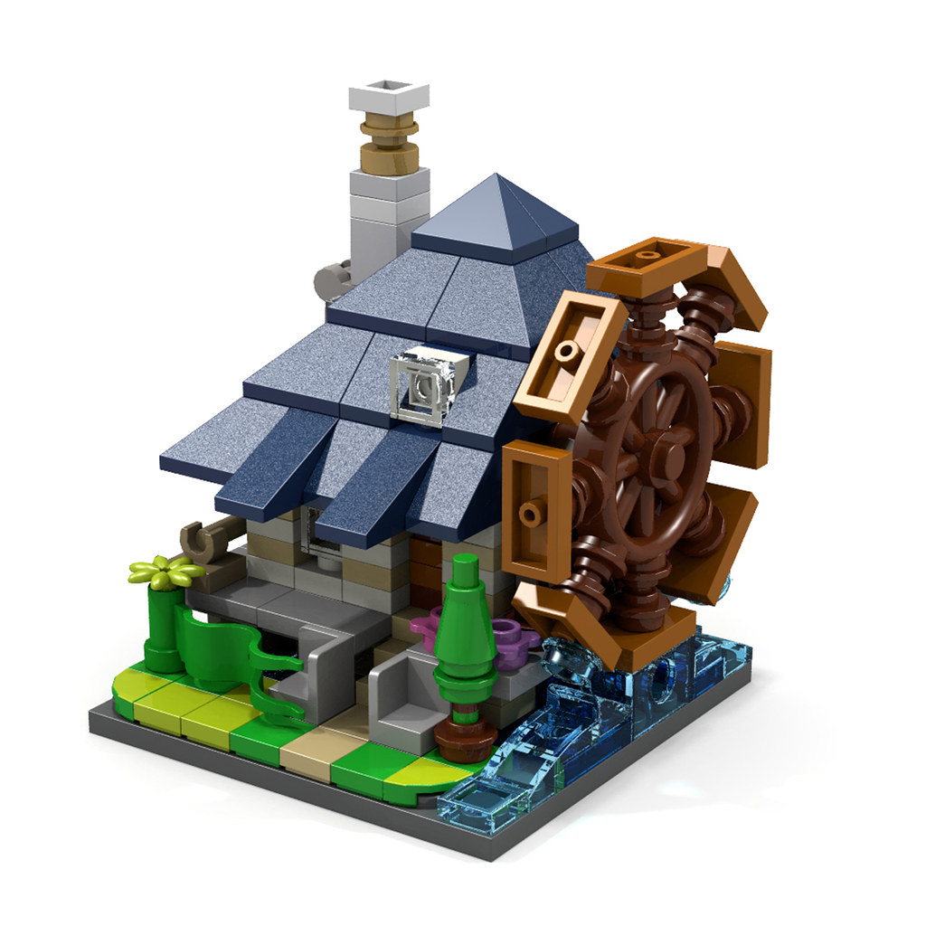 Waterwheel House (custom built Lego model)