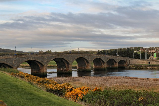 23rd April 2017. Bridge over the Deveron at Macduff, Banffshire, Scotland