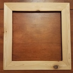 I made a picture frame, now I have to stain and finish it