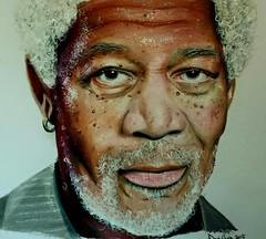 Morgan Freeman in prismacolour