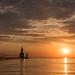 Sunset at Saint Joseph beach, Michigan