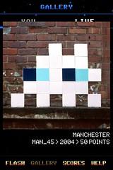 MAN_45 , Invader, Flash Invaders, street art Manchester